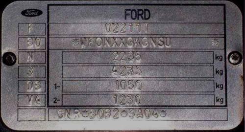 Форд фокус вин код где находится